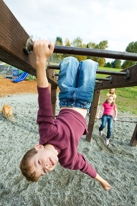 Child having fun at a playground