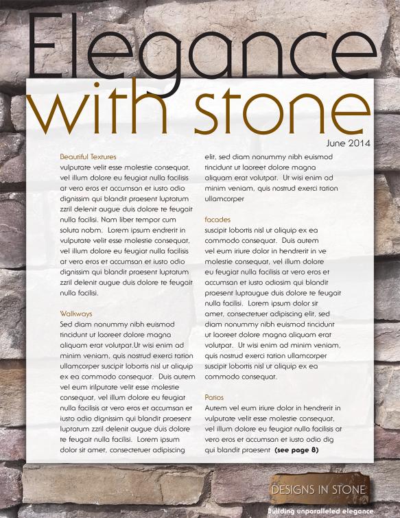 Stonesnewsletter